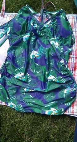 Dwuczęściowy kostium kąpielowy ciążowy