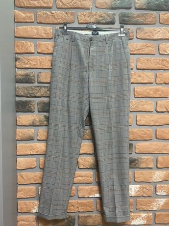 Zara spodnie męskie elegnckie M 38 krata kratka Regular Fit