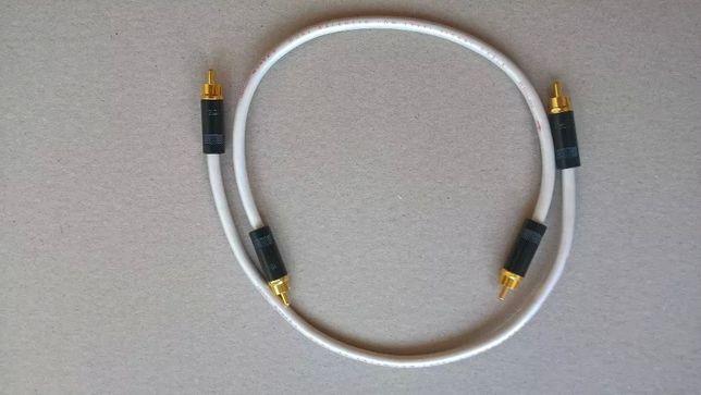 Interkonekt audio QED QUNEX 2 wtyki RCA 30 cm wzmacniacz odtwarzacz CD