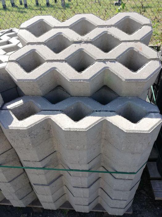 Płyta ażurowa betonowa 60x40x 10cm grubości, eko bruk, SEMMELROCK Kraków - image 1