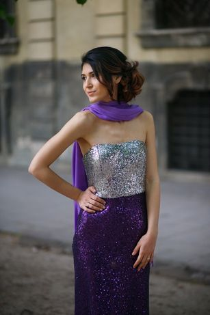 Вечернее платье в пайетку