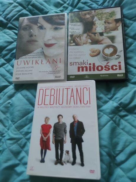 3 oryginalne filmy dvd Smaki miłości, Uwikłani, Debiutanci