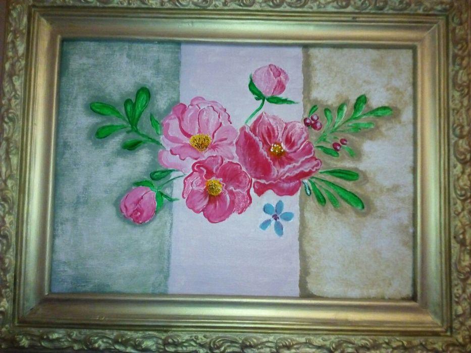 Картина, акрил, старый холст Запорожье - изображение 1