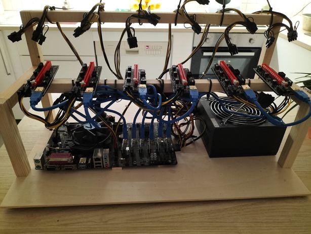 Mining rig para 6 placas ETH ETC RVN ERGO