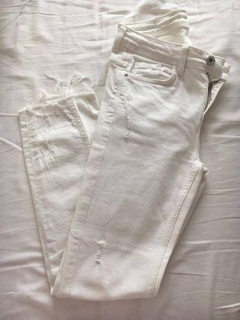 Calças ganga branca
