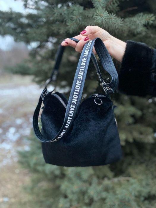 Стильная дизайнерская сумка, итальянская кожа ,натуральный мех Харьков - изображение 1