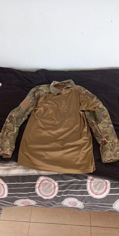 Sweet shirt cor Tan, Militar - Caça - Airsoft