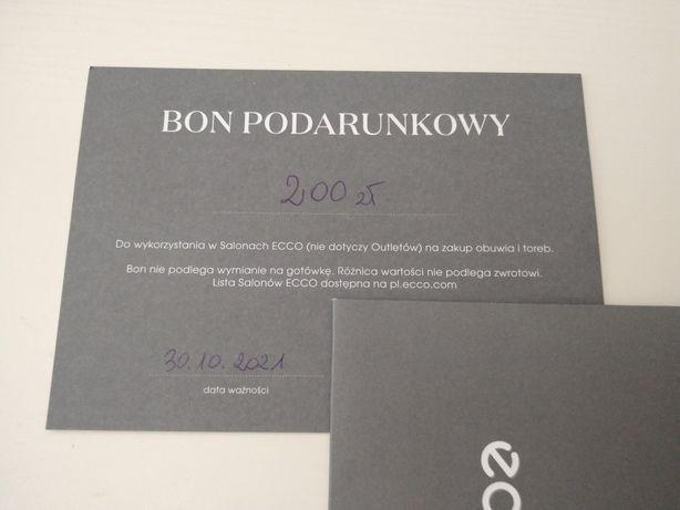 Karta podarunkowa voucher bon Ecco 200 zl