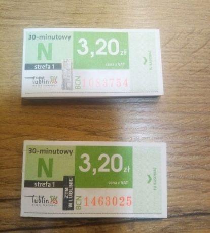 Bilety MPK autobusowe Lublin normalne 30 minutowe