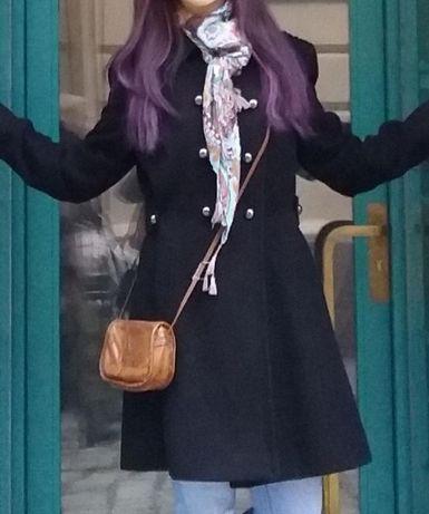 Кашемировое черное пальто dunnes европейский 42 размер (s-m) Dunnes