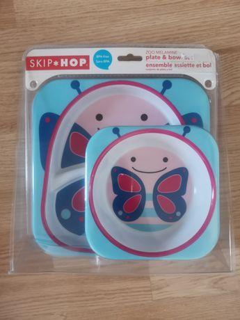 Nowy Zestaw Jedzeniowy Skip Hop Zoo Motyl