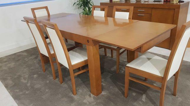 Mesa de Jantar Extensível + 6 Cadeiras
