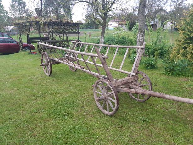 Wóz drewoniany zabytek