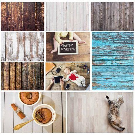 Двухсторонние текстурные фоны для фуд фото фотофон 57×87 Дерево/Камень