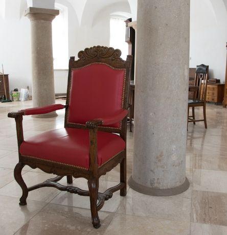 Antyki Fotel barokowy 1700 rok, pałacowy