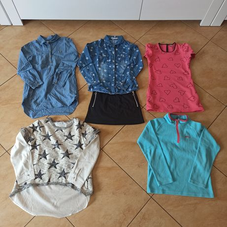 Ubranka dla dziewczynki rozmiar 122/128