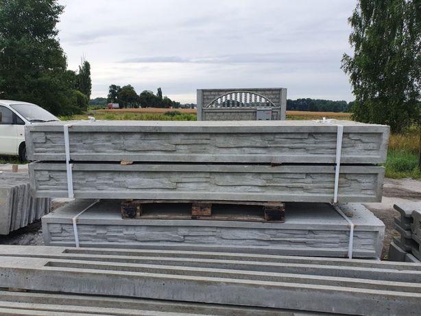Podmurówki płyty betonowe 25x250 wzór piaskowiec PANELE 3d DOM i OGRÓD