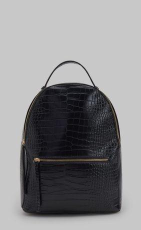 Czarny plecak z wężowym wzorem Reserved
