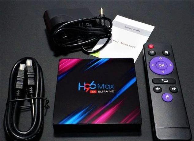Андроид SMART TV BOX H96 MAX 4x32гб и 4x64гб смарт ТВ Бокс приставка