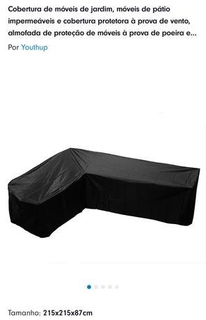Capa de protecao para sofá de canto