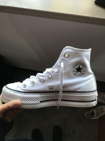 All Star brancas com plataforma