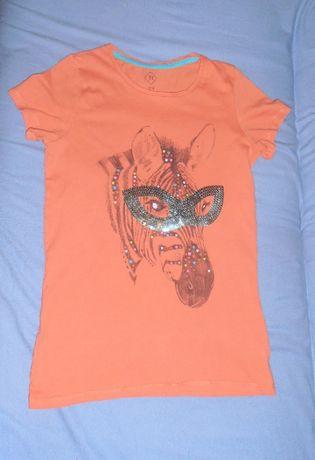 Wygodny T-shirt, aplikacja, TEX, 13-14 lat