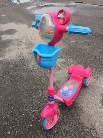 Самокат-cкутер трехколесный Peppa Pig