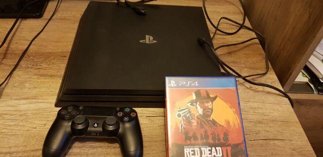 Konsola PS4 Pro 1TB + **Gwarancja** + gra Red Dead Redemption 2+ 1 pad