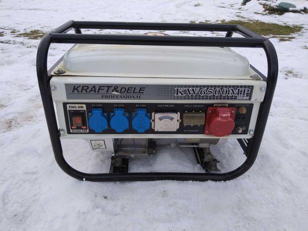 Agregat prądotwórczy 3Fazy 400V i 220V Kraft Dele KW6500Mp