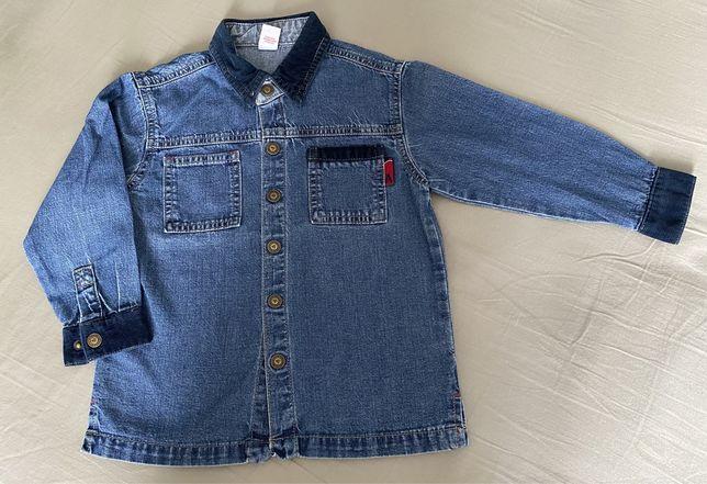 Джинсова сорочка на кнопках для хлопчика 2-3 р (96 см) б/в