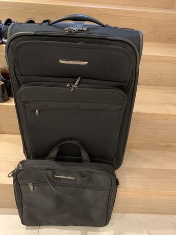 Walizka kabinowa marki Wittchen + torba na laptopa