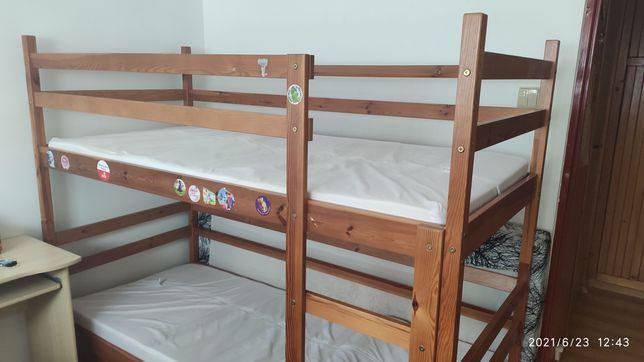 Sprzedam łóżko piętrowe drewniane