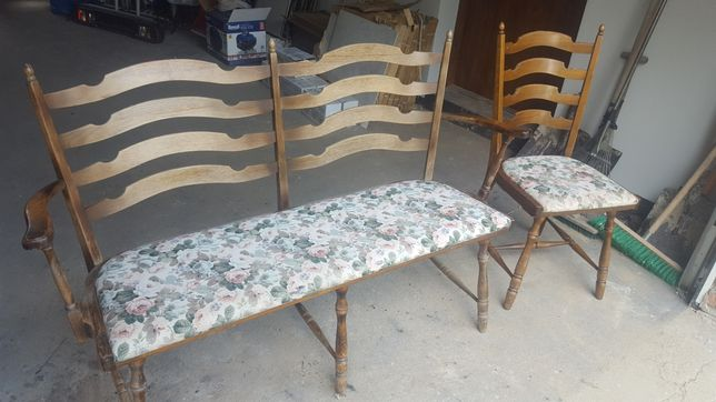 Ławka i krzesło antyk