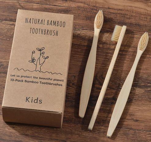 Escovas de dentes em bambu para criança (cor bege disponível)