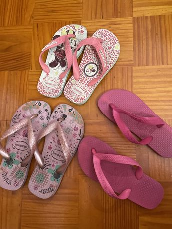 Havaianas e sandalias