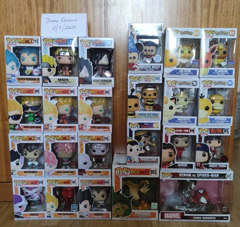 Vendo Funko Pop Dragon Ball + Pokémon + Naruto + Disney + Vários