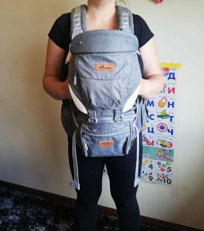 Marsupio para transportar bebé.
