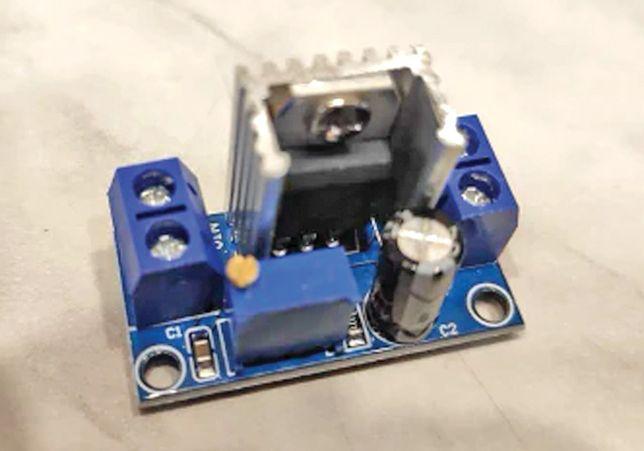 Преобразователь напряжения понижающий с радиатором, LM317 DC-DC