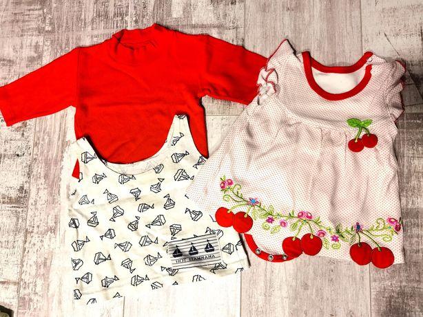 Piękny zestaw ubranka dziewczynka 62 i 68 10 szt +sweterek 68 gratis