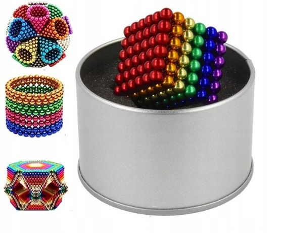Антистресс - Нео Куб 5мм Головоломка магнитные шарики в боксе