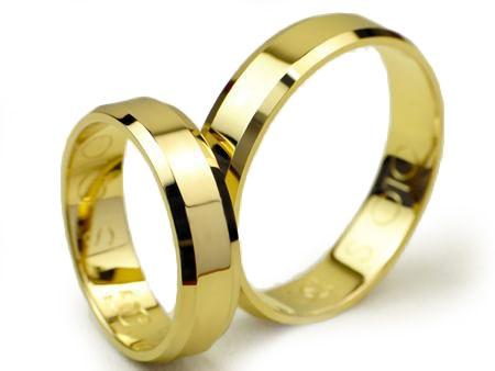 Goldrun Złote Obrączki Ślubne 5mm 333 Para Fazowane Bezszwowe