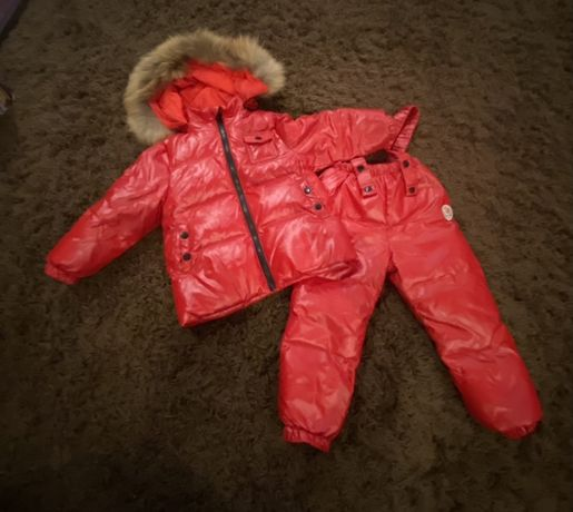 Комплект зимний пуховый, комбинезон и куртка пух Lie bei
