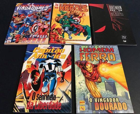 Lote MARVEL Deluxe 4 Volumes + Batman Ano UM - Devir (Portugal)