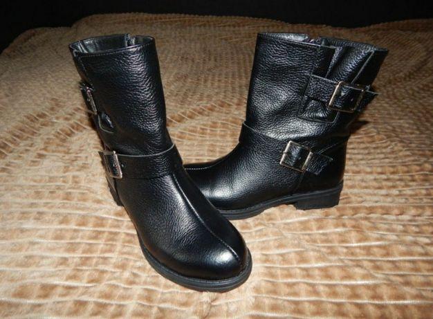 Жіночи полусапожкки, женское ботинки, кожа, новые