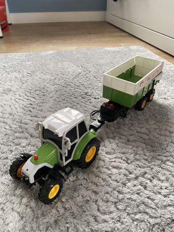 Zabawka traktor ciągnik z przyczepą