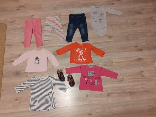 Leginsy,spodnie,bluzeczki,body,sukienka,trzewiki dla dziewczynki 80,86