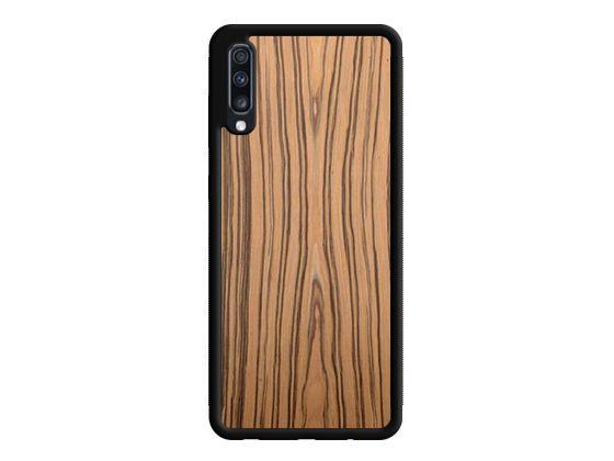 Drewniane Etui Case Samsung Galaxy A70 + Szkło