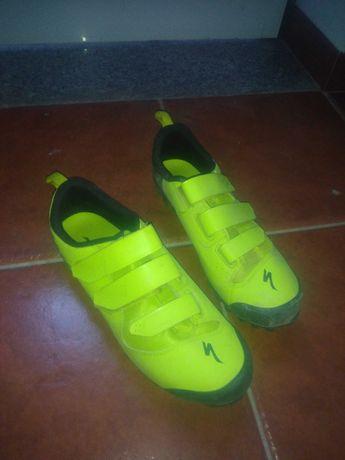 sapatos specialized e pedais time