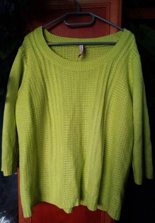 Limonkowy sweter rozmiar L