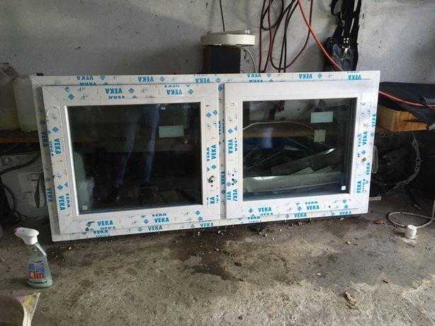 okno Veka trzy szybowe 150 x 70 dwuskrzydlowe